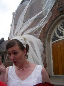 Brooke on her wedding day