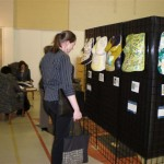 Brooke admiring the exhibit