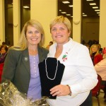 The winner of the Pearls & Passion grand prize with Soroptimist member, Sandy Gray from Weeks of Waterdown