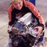 Hugging her 350 RamJet Crate engine