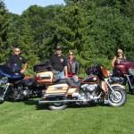 Sandy (R) w/husband Steve (L) & friends Robert & Elaine Pasuta before embarking on a ride to Thunder Bay!