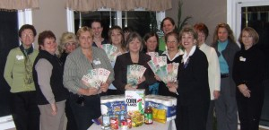 $400 was given to Sandy Thomas, Flamborough Food Bank