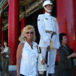 Changing of the guard at a palace in Hong Kong