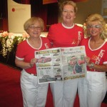 My eyes are closed, but anyways, Past Governors Margaret and Shirley with Governor Maxine with the Burlington Post