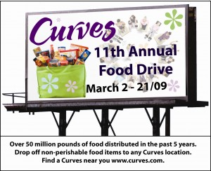 Food Drive March 2 to 21