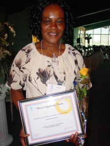 Congratulations Edith, our Women's Opportunity Award Winner