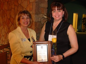 Debra Tigchelaar, Executive Director of Drummond House was recognized for our Making a Difference award