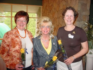 Two of our members were honoured for 20 years of service: Nancy Davidson and Shirley McCoy; Jane Oulton is a charter member of our club from 1984