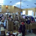 Volunteers sorting